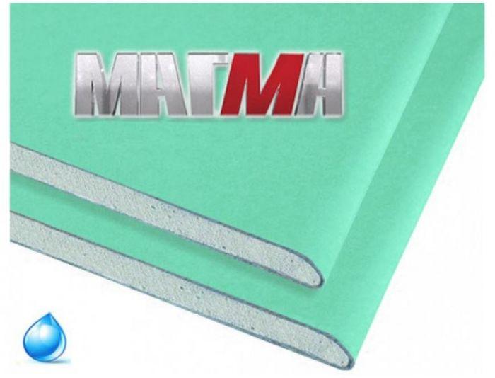 гипсокартон влагостойкий гклв магма 2500х1200х12,5 мм